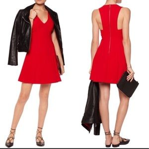 Alice and Olivia elva red dress 4